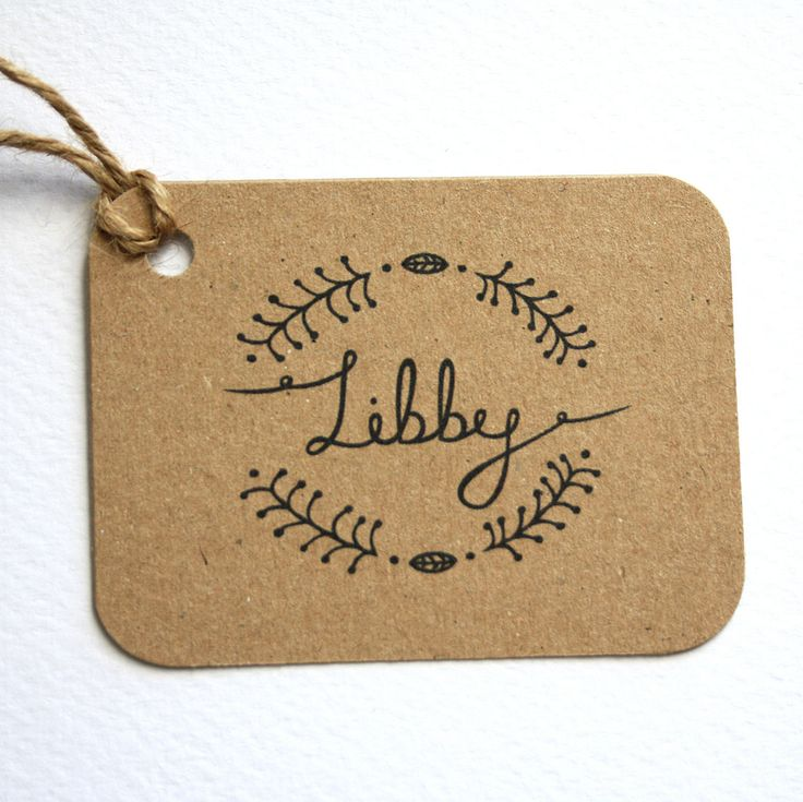 Woodland wedding personalised place tags- favour tags #WeddingFavorTags place tag favour tag wedding personalised place card hand lettered illustrated botanical woodland recycled card kraft card simple rustic 1.50 GBP VictoriaSnape