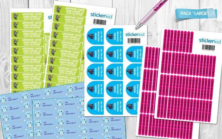 Schule Paket mit 214 personalisierten Namensetiketten & Aufkleber & Stickers | Schule-Paket | Schulpaket | Etiketten für schule | Etiketten für schulanfänger | StickerKid Deutschland