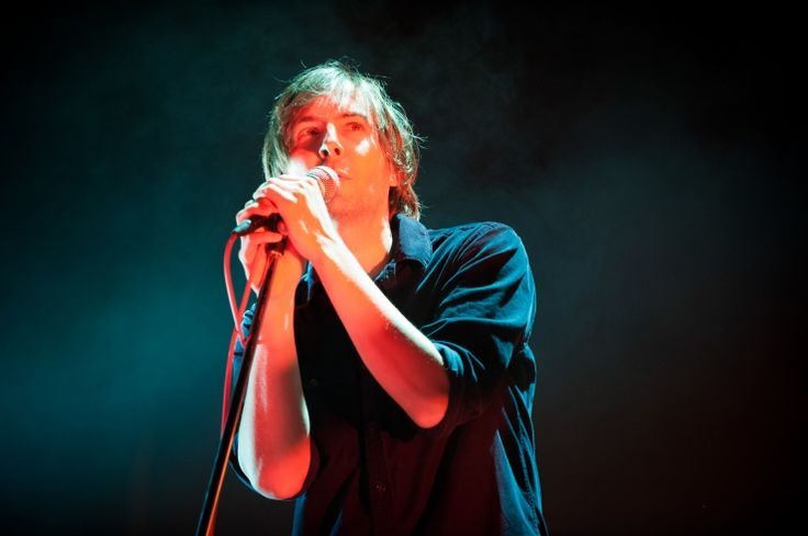 He doesn't have to try hard to be cool. Phoenix's Thomas Mars breezes through a performance on Oct. 2 in New York: Photo