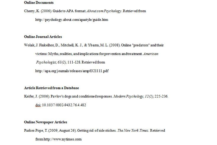 APA Format Examples, Tips, and Guidelines: Electronic Sources in APA Format