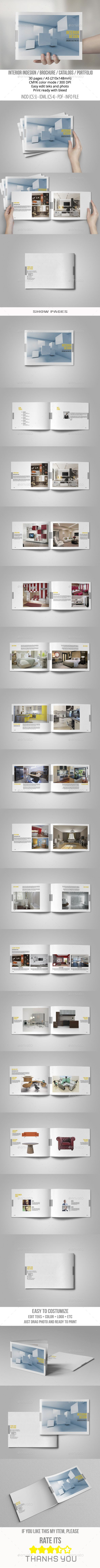 A5 Catalogs Interior - Brochures Print Templates