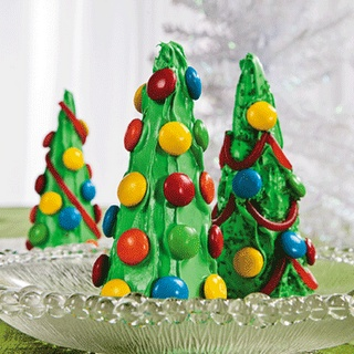 Sugar Cone Christmas Trees, did this at a friends birthday party and it was a blast! :)