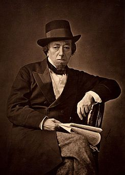 """1878 image of Benjamin Disraeli (1804-1881) British Prime Minister. ...  known for his quick wit such as this:   A member of Parliament said to Disraeli: """"Sir, you will either die on the gallows or of some unspeakable disease.""""  .....   """"That depends, Sir,"""" said Disraeli, """"whether I embrace your policies or your mistress."""""""