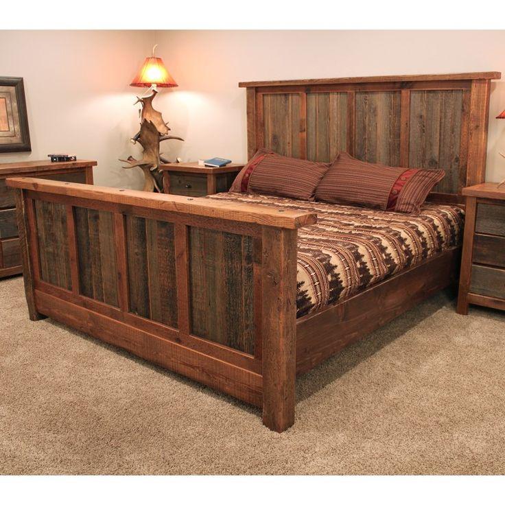 Best 25 rustic bed frames ideas on pinterest diy bed for Allan lake furniture