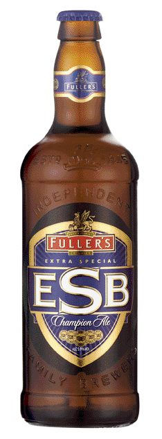 Cerveja Fuller's ESB, estilo Extra Special Bitter/English Pale Ale, produzida por Fuller's, Inglaterra. 5.9% ABV de álcool.