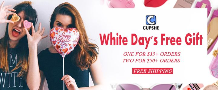 Free White Day Gift from Cupshe - Get it from here; http://viatopcoupons.com/coupons/white-days-free-gift-from-cupshe-com/
