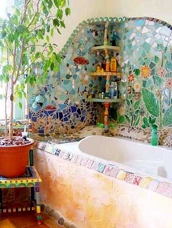 Необычная плитка для ванной: мозаика в интерьере - Учимся Делать Все Сами