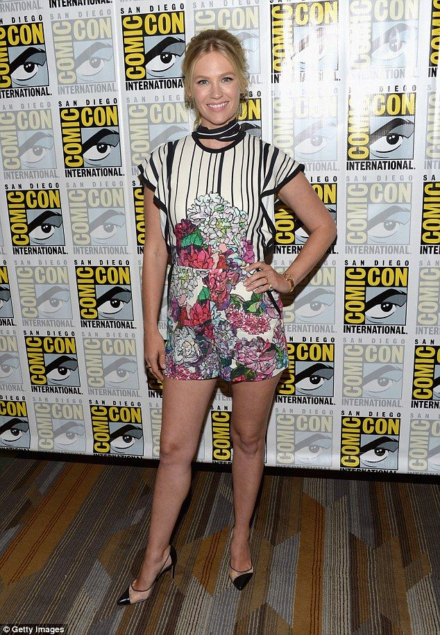 Leggy display: January Jones, 38, flashed her long legs at the The Last Man on Earth event at Comic-Con  in San Diego, California on Saturday