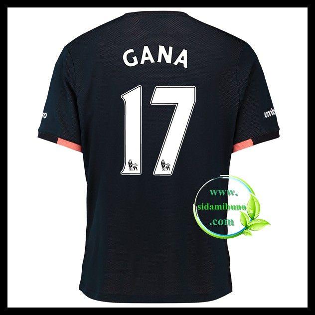 Fotballdrakter Everton GANA #17 Bortedraktsett 2016-2017