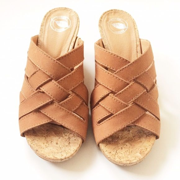 Nurture Wedge Sandals Nurture wedge sandals. Leather upper, leather lining. Size 6. Brand new without box. Never worn. Nurture Shoes Wedges