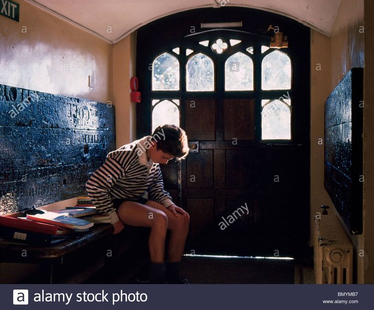 Rugby School Boy Preparing For Games In School House, 1980's Stock Photo, Stock…