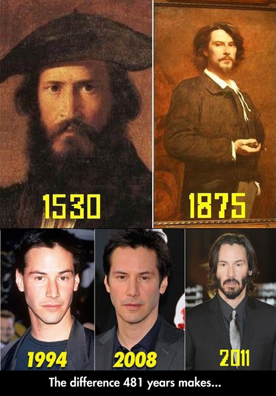 Keanu Reeves. Timelord? No there is a glitch in the matrix. Nice try Neo...