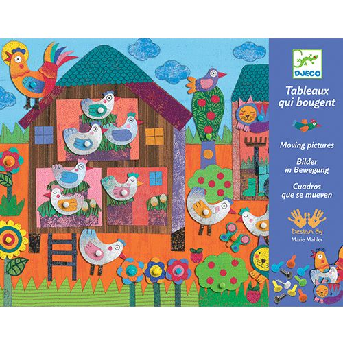 bewegende schilderijen kleine boerderij   djeco