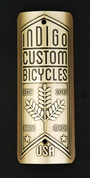 Custom Bike Badge for Indigo Custom Cycles by InsigniaWorks, $45.00