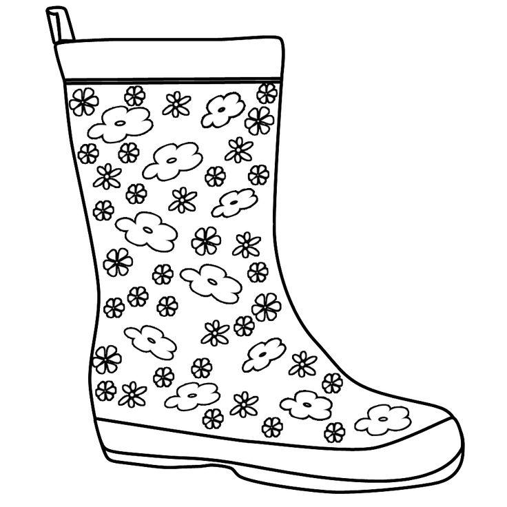 Rain Boots Template - Invitation Templates