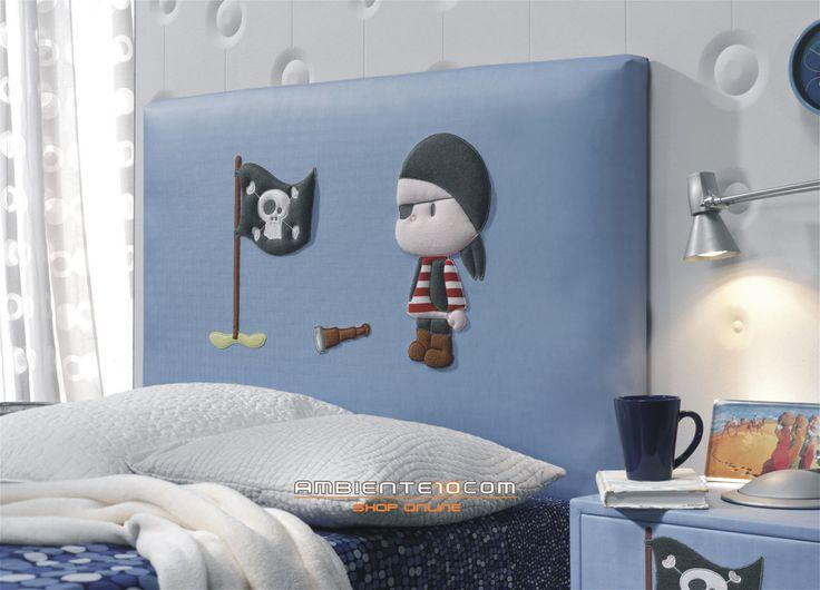 cabecero de cama pirata coleccin infantil ambientecom
