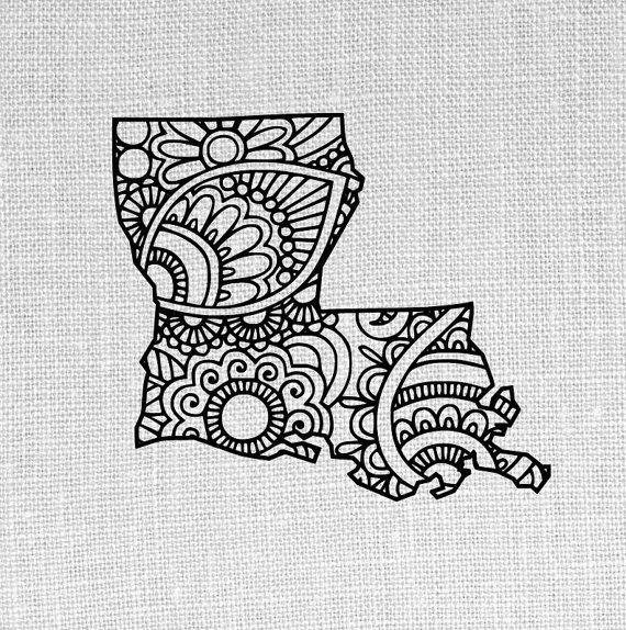 louisiana state SVG and studio doodle design by OhThisDigitalFun