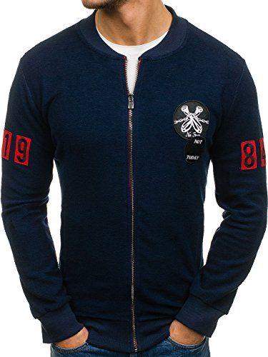 Amazon BOLF Herren Sweatshirt Lang ohne Kapuze mit Motiv Sportlicher Stil  Breezy 9101 Grün S  1A1      Mode für Männer   Pinterest f973c601a5
