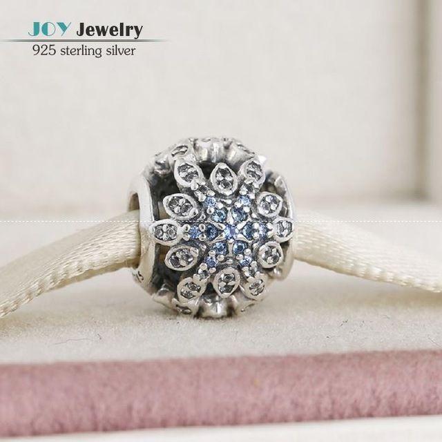 Приспосабливать европейские браслеты камнями и кристалл снежинка шарм бусины 925-Sterling-Silver ажурные цветок шарм ювелирных изделий для женщин