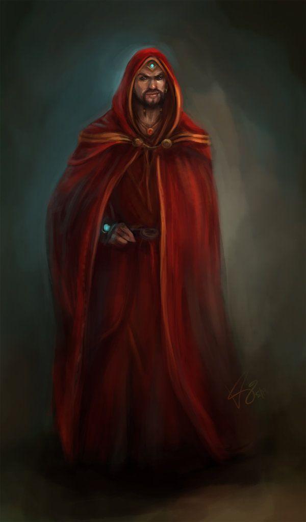 red wizard by artastrophe on DeviantArt