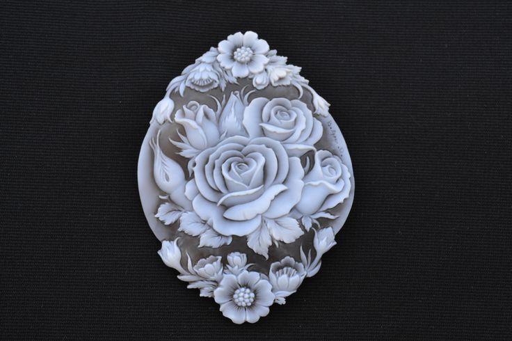 big cameo, handmade on Sardonyx shell