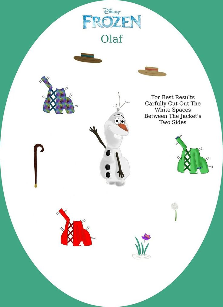Disney's Frozen Paper Dolls: Olaf by evelynmckay