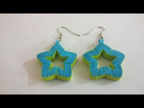 7. Paper Weaving Star Shaped Earrings Tutorial - YouTube