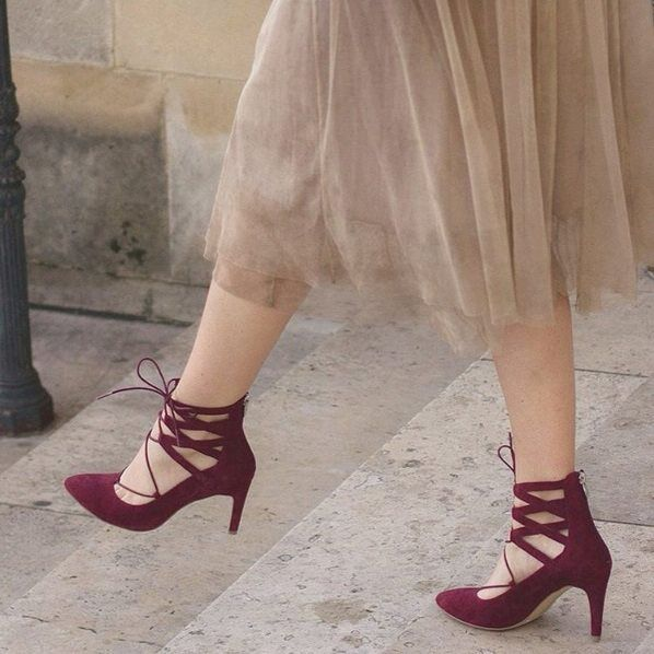 VERONA SHOES Tutu skirt Lace up 24418 by Tamaris www.verona-shoes.gr