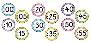 Freebie clock numbers with polka dots.