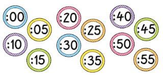 Freebie clock numbers with polka dots.