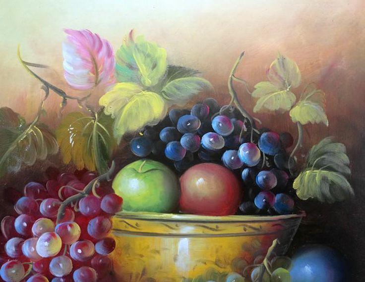 100% pintado à mão Tela de Arte de Belo clássico de frutas still life Pintura a Morden a Decoração Home da Parede pintura a Óleo Imagem