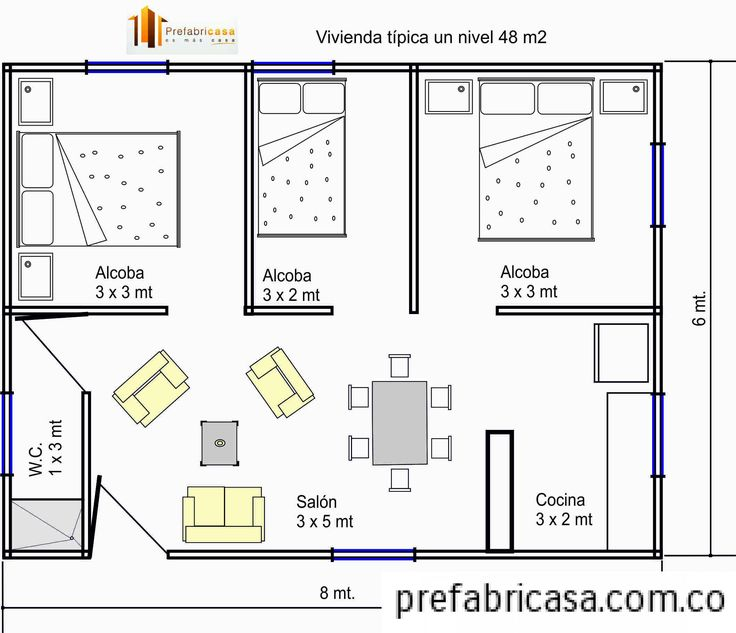 1307 best images about mini casa on pinterest small for Planos de casas con medidas