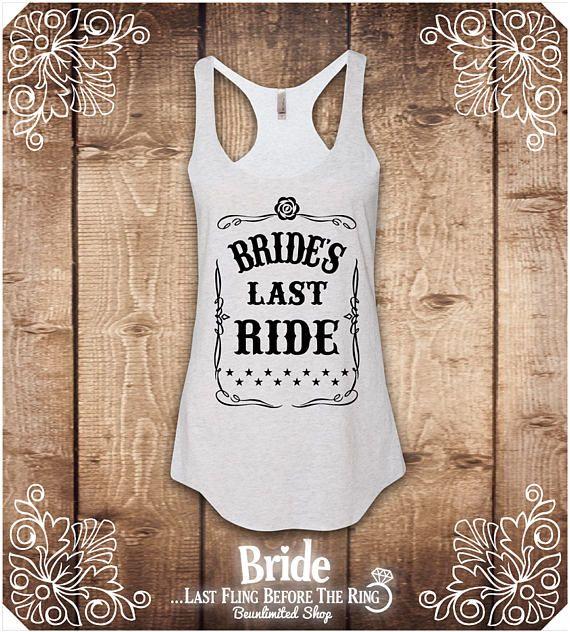 Brides Last Ride Shirt. Bachelorette Shirt. Bachelorette Party
