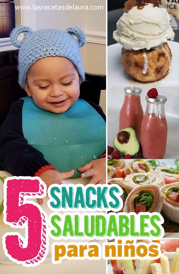 5 Snacks saludables para niños - Las Recetas de Laura Crochet Hats, Breakfast, Food, Recipes For Children, Tasty Food Recipes, Coconut Bars, Oat Bars, Knitting Hats, Morning Coffee