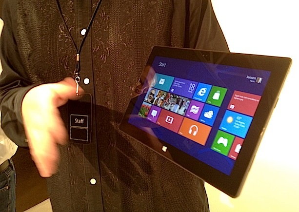 Hands-on With Microsoft's Tablet: Plenty of Surface, Not Much Depth [PICS]