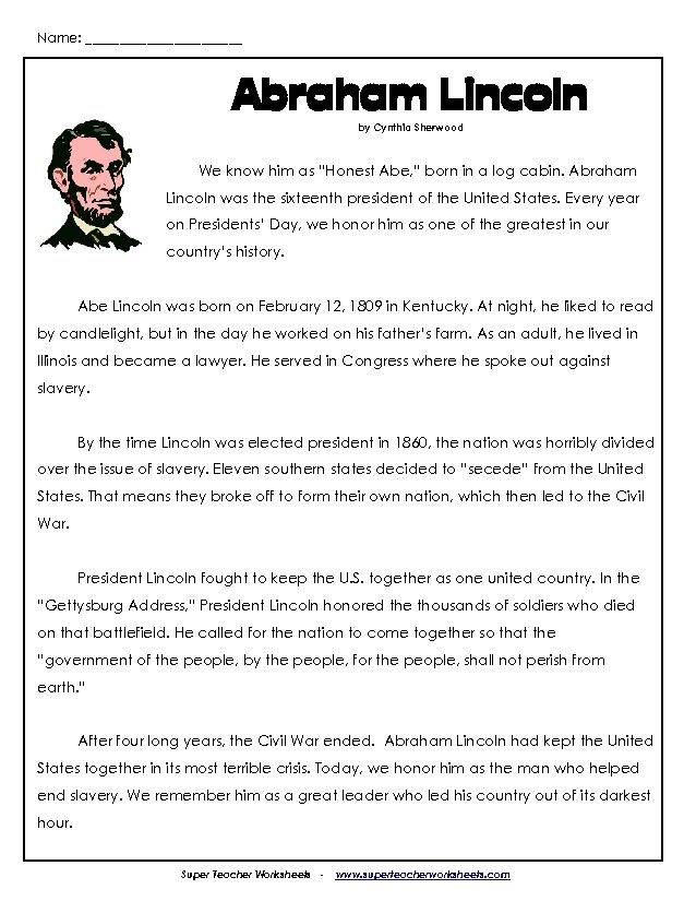 17 Best images about Teaching – Abraham Lincoln Worksheets