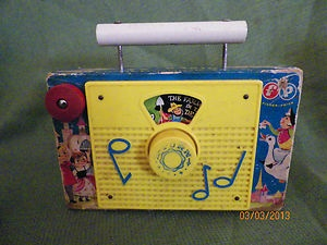 Vintage 1960's Fisher Price TV Radio Farmer in The Dell Wind Up Toy Works | eBay
