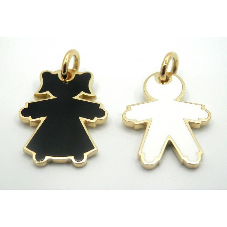Médailles or laquée noire ou blanche, nombre limitée #Loupidou