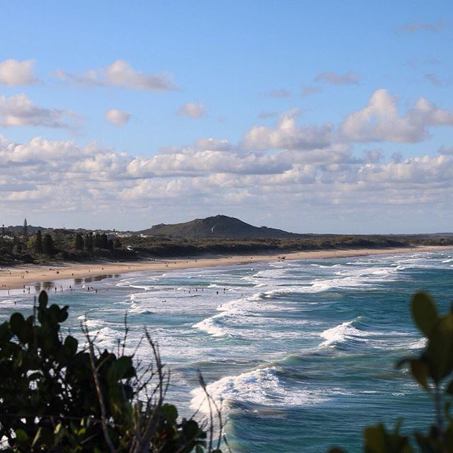 This is Coolum Beach on the Sunshine Coast. It is so beautiful and the waves just keep rolling in, perfect for a surf. #thisisqueensland by @le_discoverer