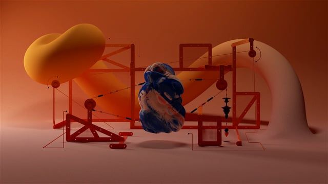 """This exciting project has been one of the most challenging and complex in the last months. The original organic shapes created by Fantasaraxia came to life by a series of motion pieces and stills, dividing the project in three parts: """"Sweeepz"""" (a series of these shapes under a meccano bondage structure) """"AstroXYZ"""" (a more astronomical feel for a 360o video with a soundtrack by YDVST) and """"Offfpener"""" (the motion piece created ad-hoc for the Antwerp OFFFByNight talk where these shapes morph…"""