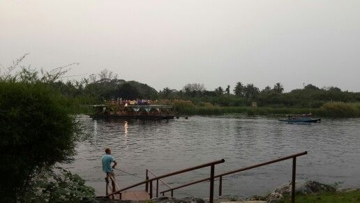 Fishing in River Kwai. Thailand