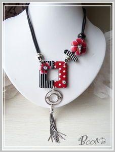Unusual, asymmetrical necklace.
