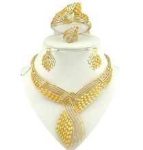 18k gold fine jewelry sets  women necklace wholesale costume jewelry set african big jewellry sets
