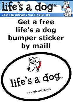 Free Life�s a Dog Bumper Sticker