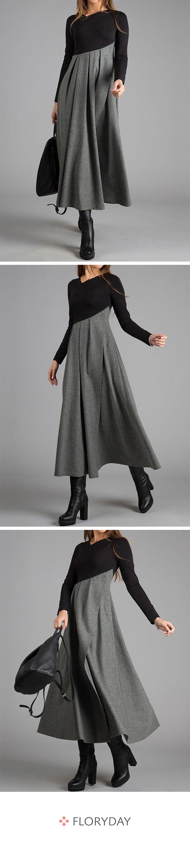 Medium lange A-Linie Kleider mit langen Ärmel – Heike Schwarz