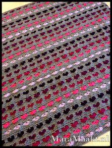 deken met hartjes haken - crochet heart blanket