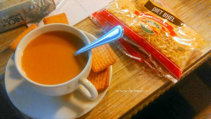 Make your morning good with hot cup of tea served with biscuits and light snacks like farsaan. Feel good, feel fresh, feel light!