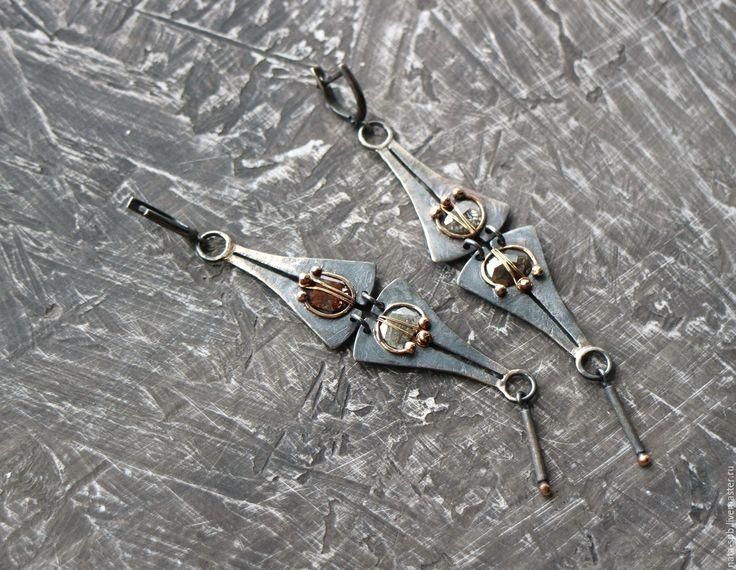 Купить 16. SEGUIDILLA серьги (алмазы, серебро, золото) - вечерние серьги, авторские серьги