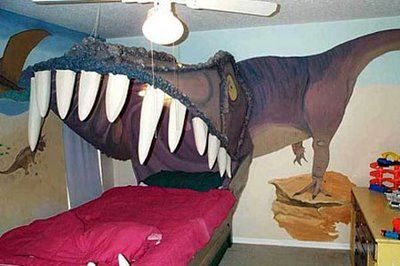 This is what you get when a Man decorates a Bed Room