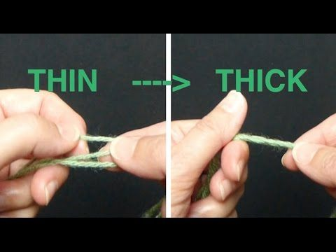 How to substitute a thin yarn for a thick yarn? Learn this easy trick. Only one ball needed for this 3 strands CROCHET or KNITTING. *************************...